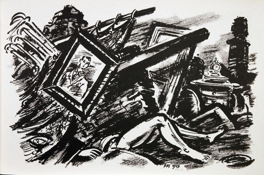 Frans Masereel. Remember! Bern, Herbert Lang 1946. Mit 26 Tafeln nach Zeichnungen und