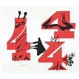 """""""Zeichen für Zeichen. 14 Original-Graphiken. Zusammengestellt von Dietrich Mahlow mit einem"""