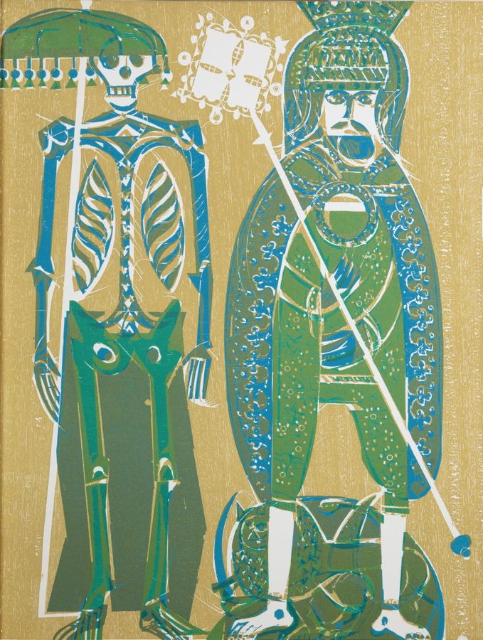 HAP Grieshaber. Totentanz von Basel mit den Dialogen des mittelalterlichen Wandbildes. La danse
