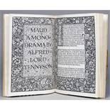 Kelmscott Press - Alfred Lord Tennyson. Maud. A Monodrama. Strand, Macmillan 1893. Mit illustriertem