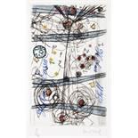 Horst Hussel. 5 x Finanzamt. Berlin 2000. Eine Collage und fünf Farbradierungen, teils koloriert und