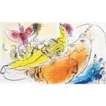 Marc Chagall - Jacques Lassaigne. Chagall. Paris, Maeght 1957. Mit 15, meist farbigen, Lithographien