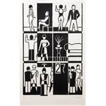 Gert Arntz. Zwölf Häuser unserer Zeit. Zwölf Holzschnitte. 1927/1973. Jeweils signiert und mit der