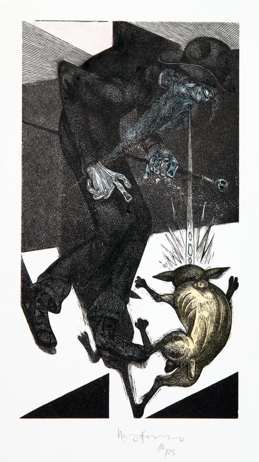 The Bear Press - Albert Ehrenstein. Tubutsch. Zweifarbige Acrylstiche von Karl-Georg Hirsch.