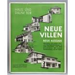 Architektur - Herbert Hoffmann. Neue Villen. Neue Ausgabe. Stuttgart, Julius Hoffmann 1933. Mit