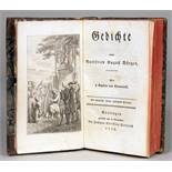 Gottfried August Bürger. Gedichte. Mit 8 Kupfern von Chodowiecki. Göttingen, Johann Christian