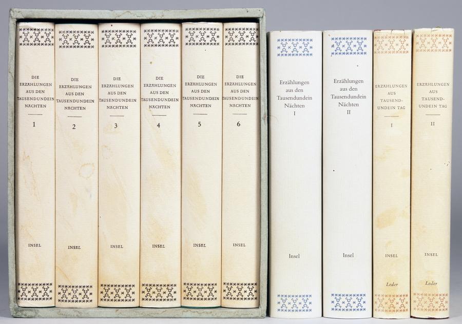 Insel Verlag - Die Erzählungen aus den Tausendundein Nächten. Band I [bis] VI. – Die Erzählungen aus