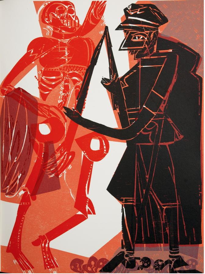 HAP Grieshaber. Totentanz von Basel mit den Dialogen des mittelalterlichen Wandbildes. La danse - Image 2 of 2