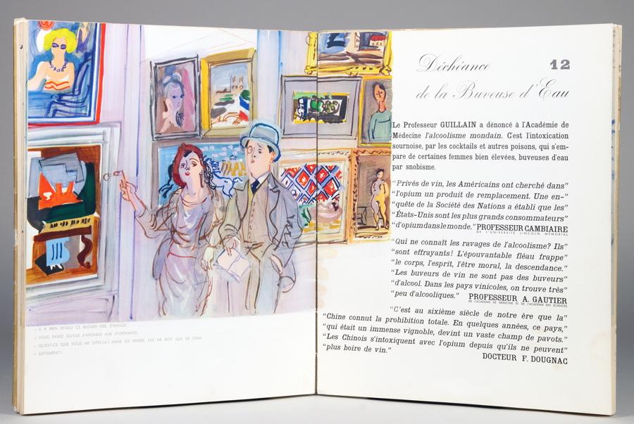 Raoul Dufy. Mon Docteur le Vin. Aquarelles de Raoul Dufy. Texte de Gaston Derys. Paris 1936. Mit