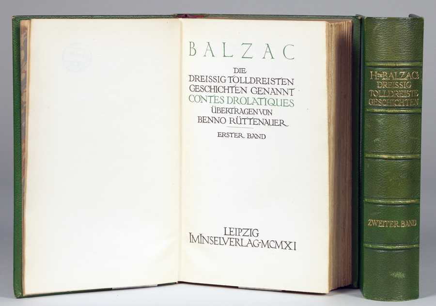 """""""Insel Verlag - [Honoré de] Balzac. Die dreissig tolldreisten Geschichten genannt Contes"""