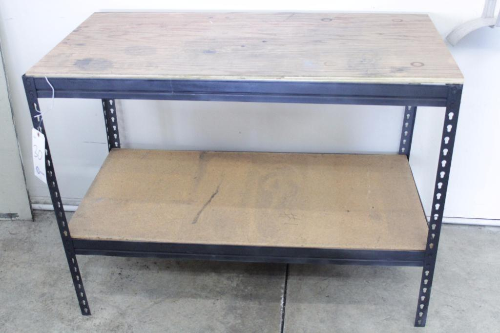 "Lot 30 - Metal shelf/workbench, 48""W X 24""D X 37""H"