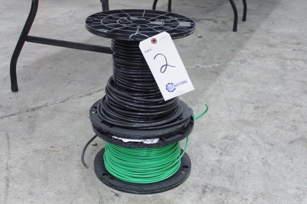 Lot 2 - Copper wire THHN No.4 black & No.6 green