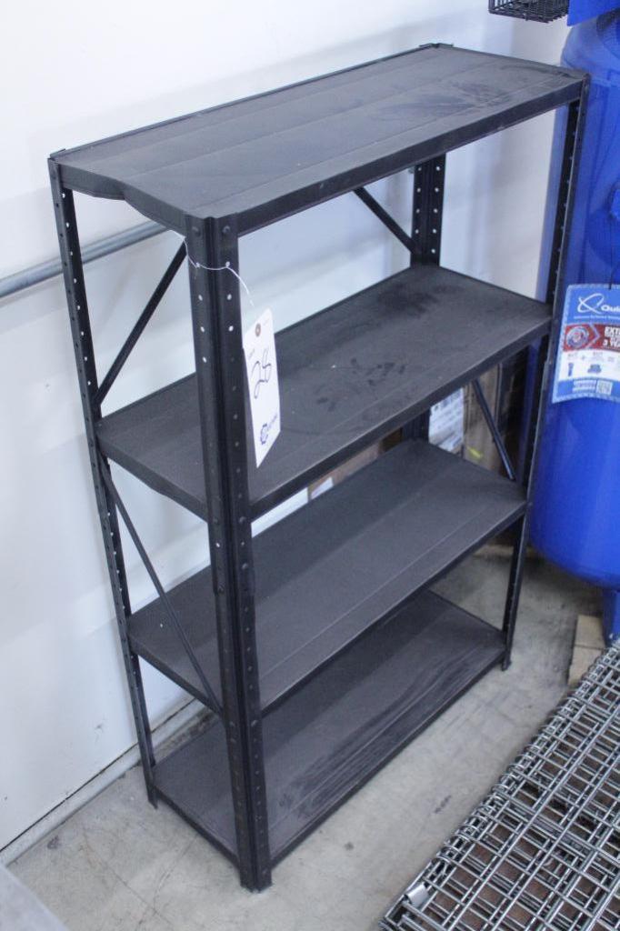 "Lot 28 - Metal Shelf Size: 30""W X 12""D X 48""H"