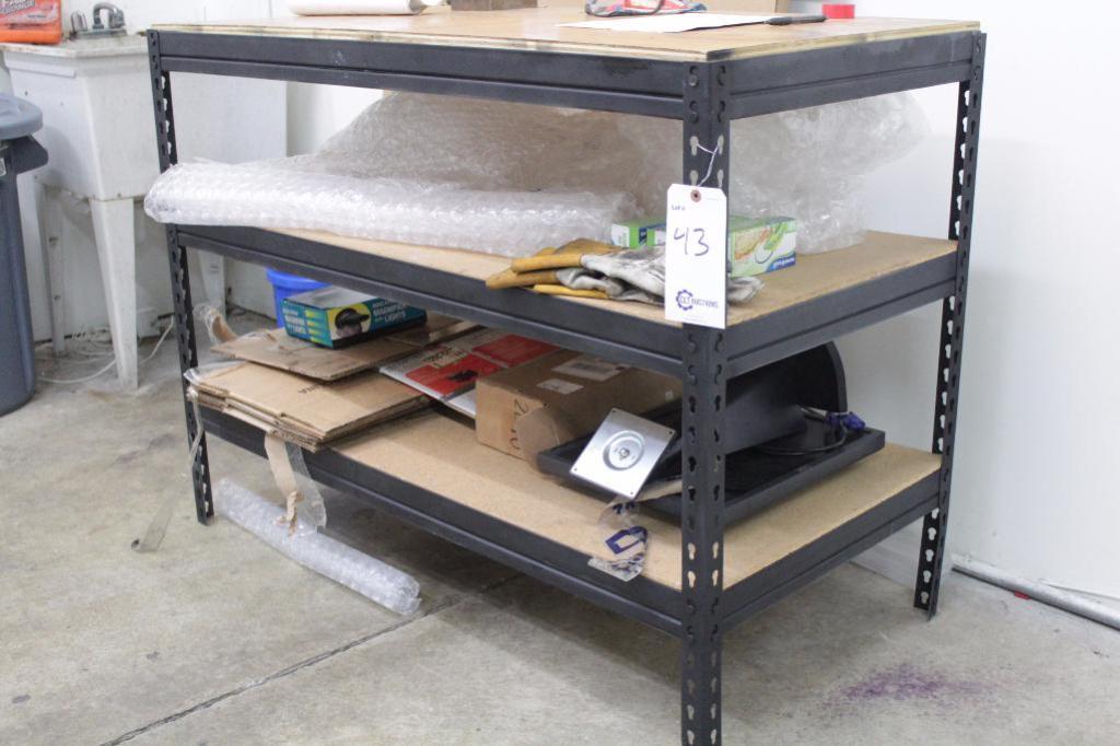 """Lot 43 - Shelf/work bench, Size: 48'W X 24""""D X 37""""H"""