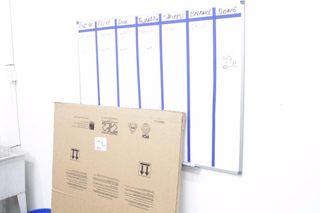Lot 42 - Dry erase boards 1 new in box