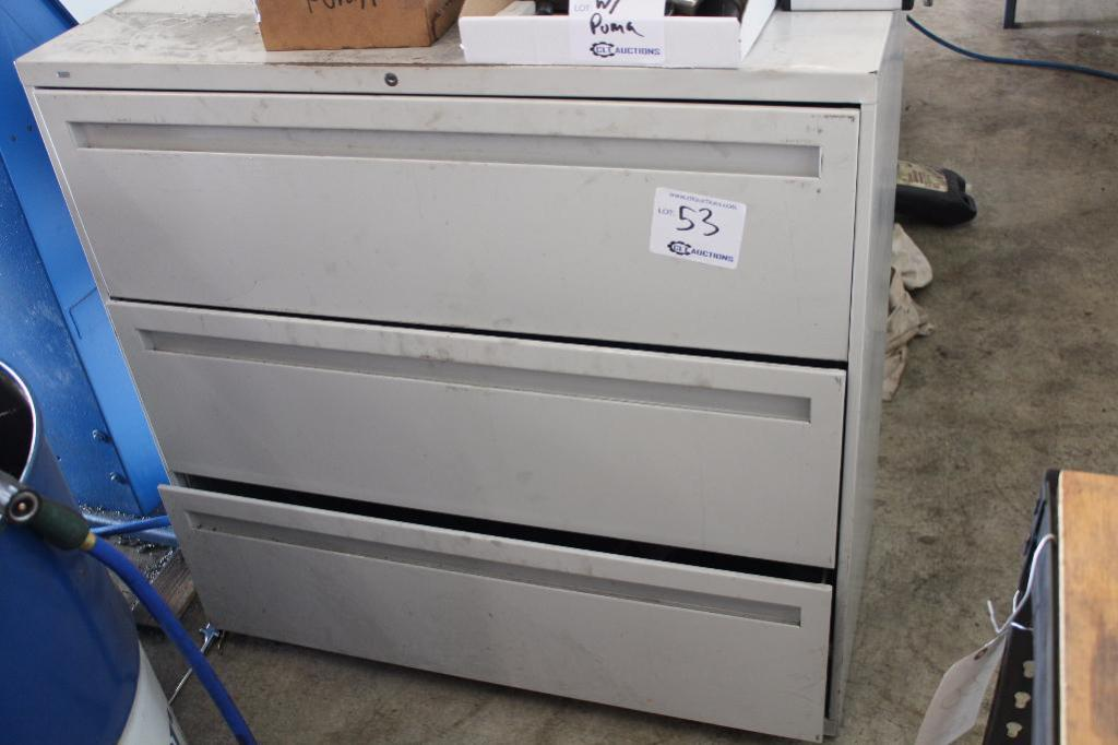 Lot 53 - Lateral file cabinet