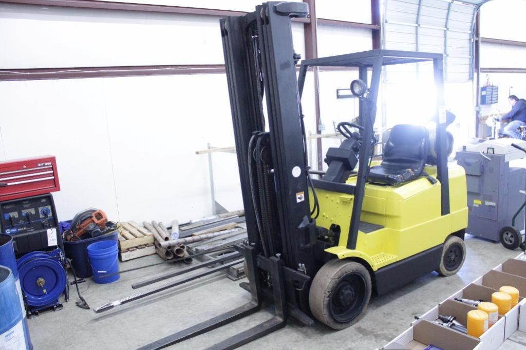 Lot 27 - Hyster S50XM forklift, 4500LB (video)