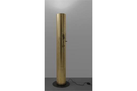 Lampada da terra a led orientabile in acciaio invisible lampada