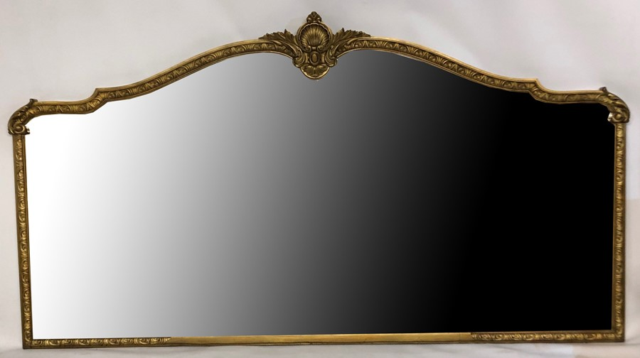 Lot 26 - A LARGE AND IMPRESSIVE LATE 19TH/EARLY 20TH CENTURY MIRROR