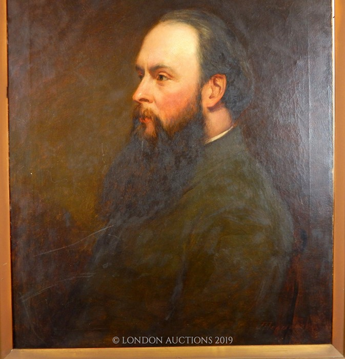 Lot 20 - 1880's Oil On Canas Portrait Of A Man By J. Henderson (1834-1908)