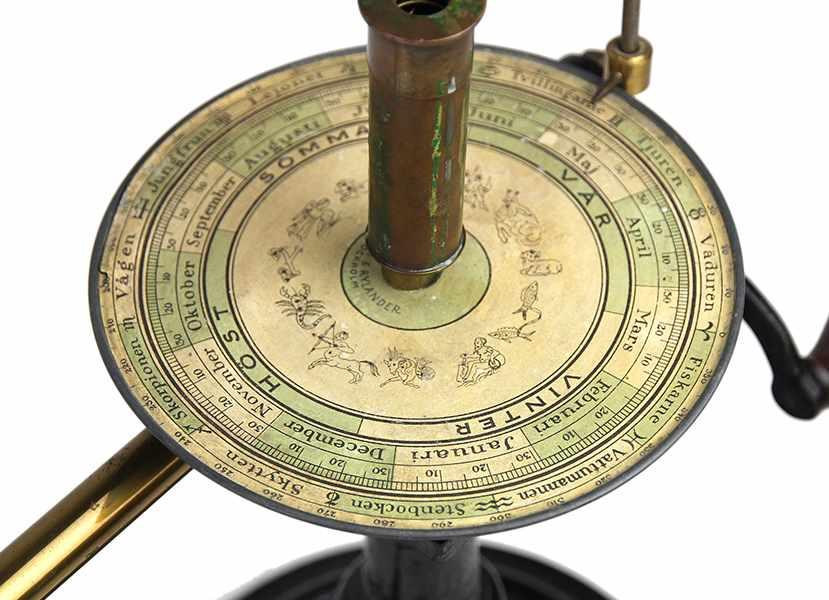 Lot 2 - Globen - Astronomie - - Tellurium von Svanström & Rylander. Stockholm ca. 1890, der Globus
