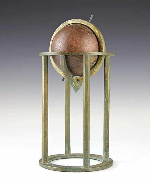 Lot 12 - Globen - Astronomie - - Arabischer Himmelsglobus. 19./20. Jhdt., Bronze und Kupfer graviert,