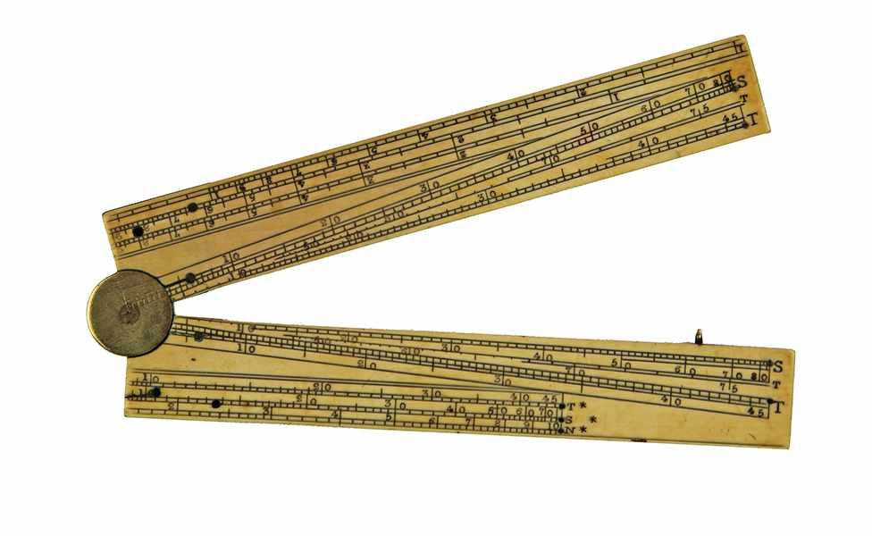 "Lot 31 - Vermessung - Geometrie - - Proportionalzirkel nach Galileo Galilei. England um 1770, signiert ""T."