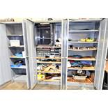 (3) Cabinets With Misc. Items