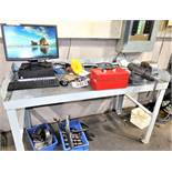 Bench With Wilton Vice And Computer