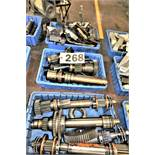 (3) Bins Of Acme Shafts And Cut Off Tool Holders