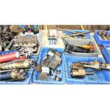 (6) Bins Of Acme Threading Spindles And Misc. Parts