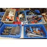 (6) Bins Of Misc. Tools
