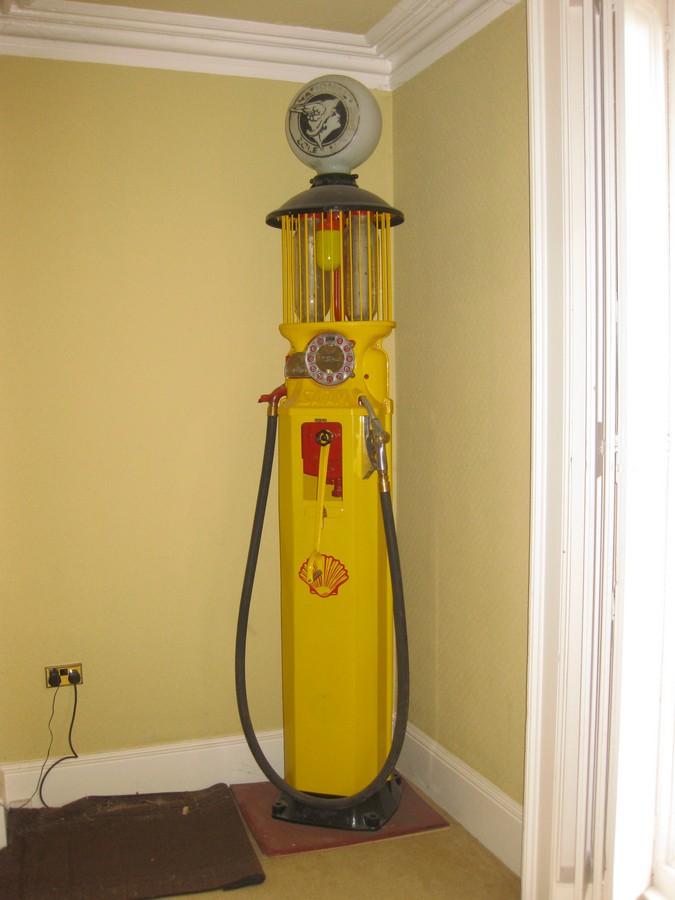 Old Vintage Antique - Satan Garage Petrol Pump with national