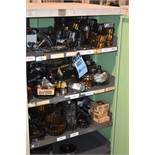 """28"""" X 30"""" X 60"""" 5-SHELF CABINET WITH ASSORTED CUTTERS, SOME NEW"""