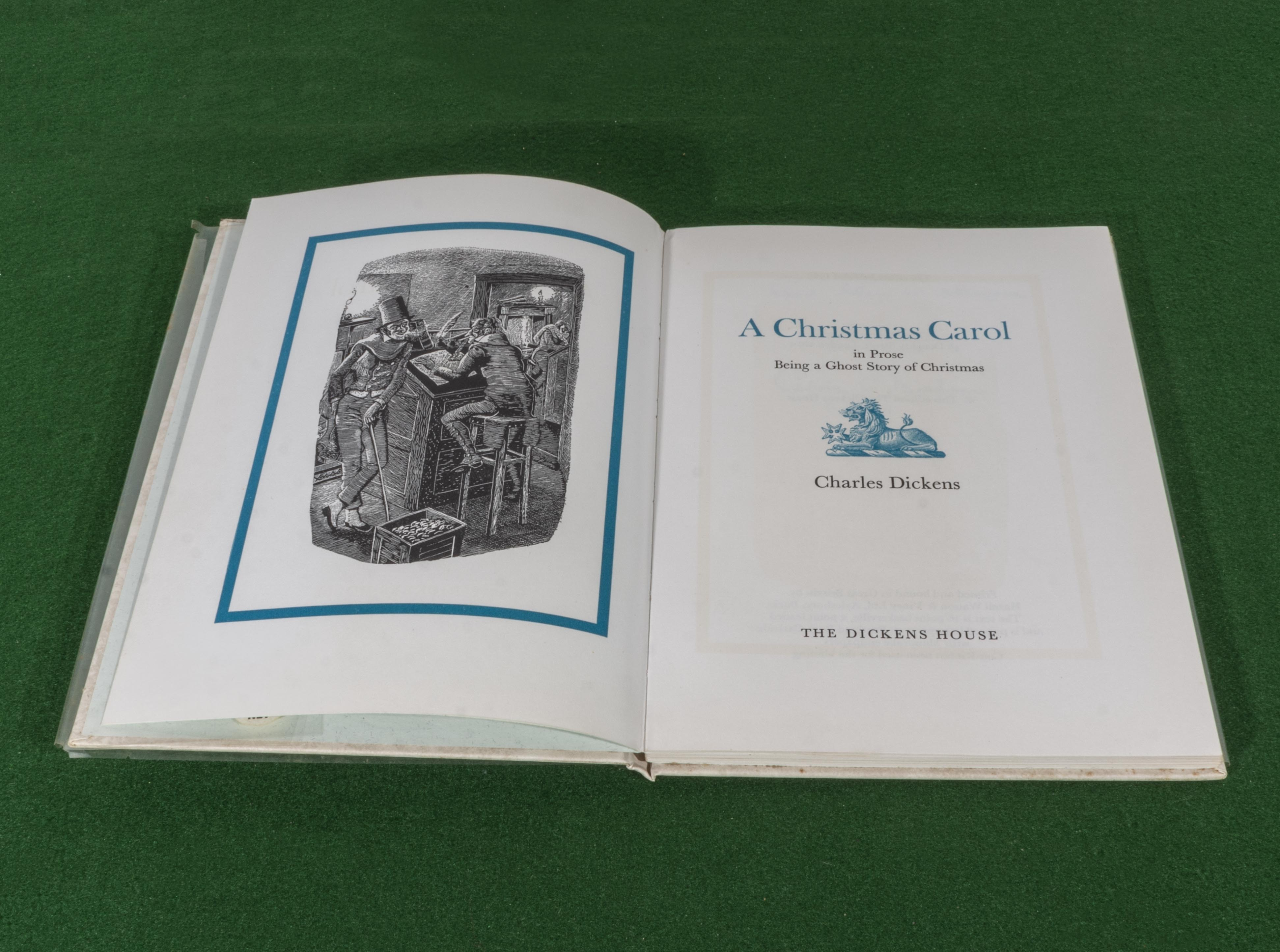 Lot 53 - An edition of A Christmas Carol, published by The Dickens House 1965, dedication 'God bless us
