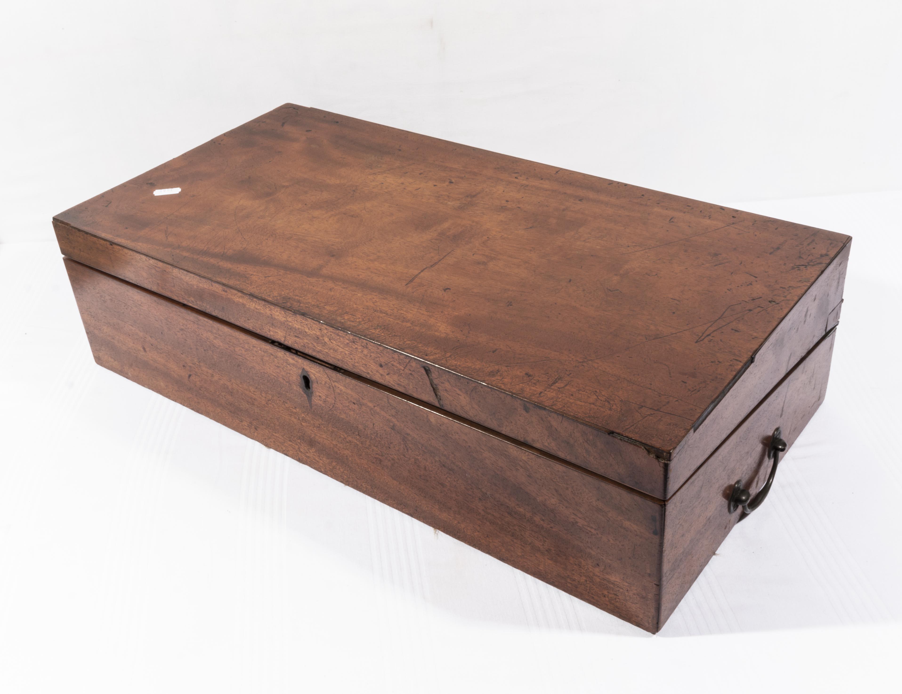 Lot 30 - A Victorian mahogany writing box.af