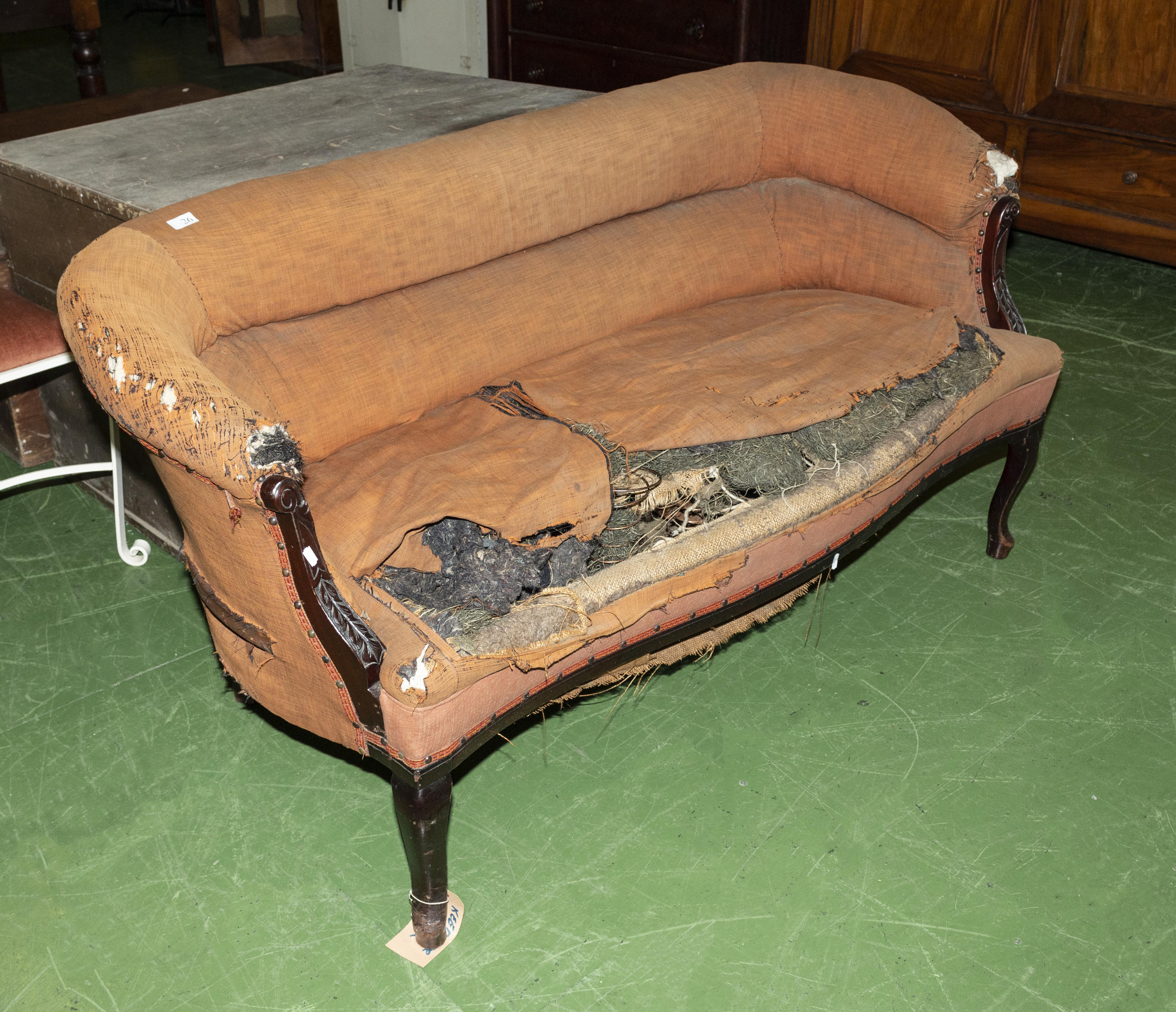 Lot 26 - A late Victorian couch.