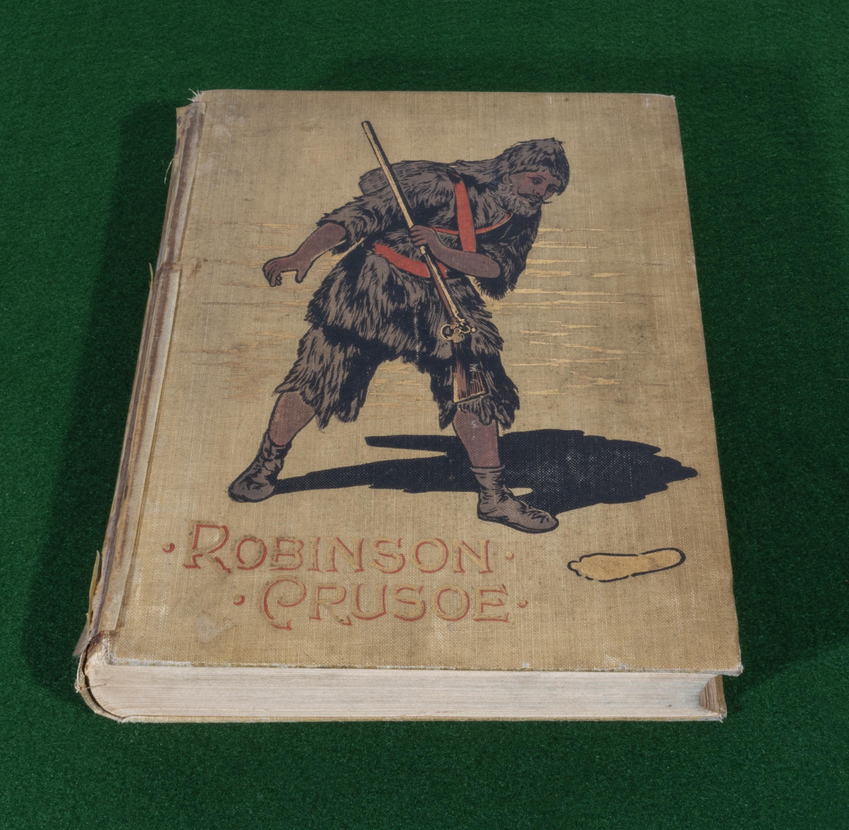 Lot 56 - Robinson Crusoe by Daniel Defoe, illustrated by Walter Paget, published by McLouglin Brothers New