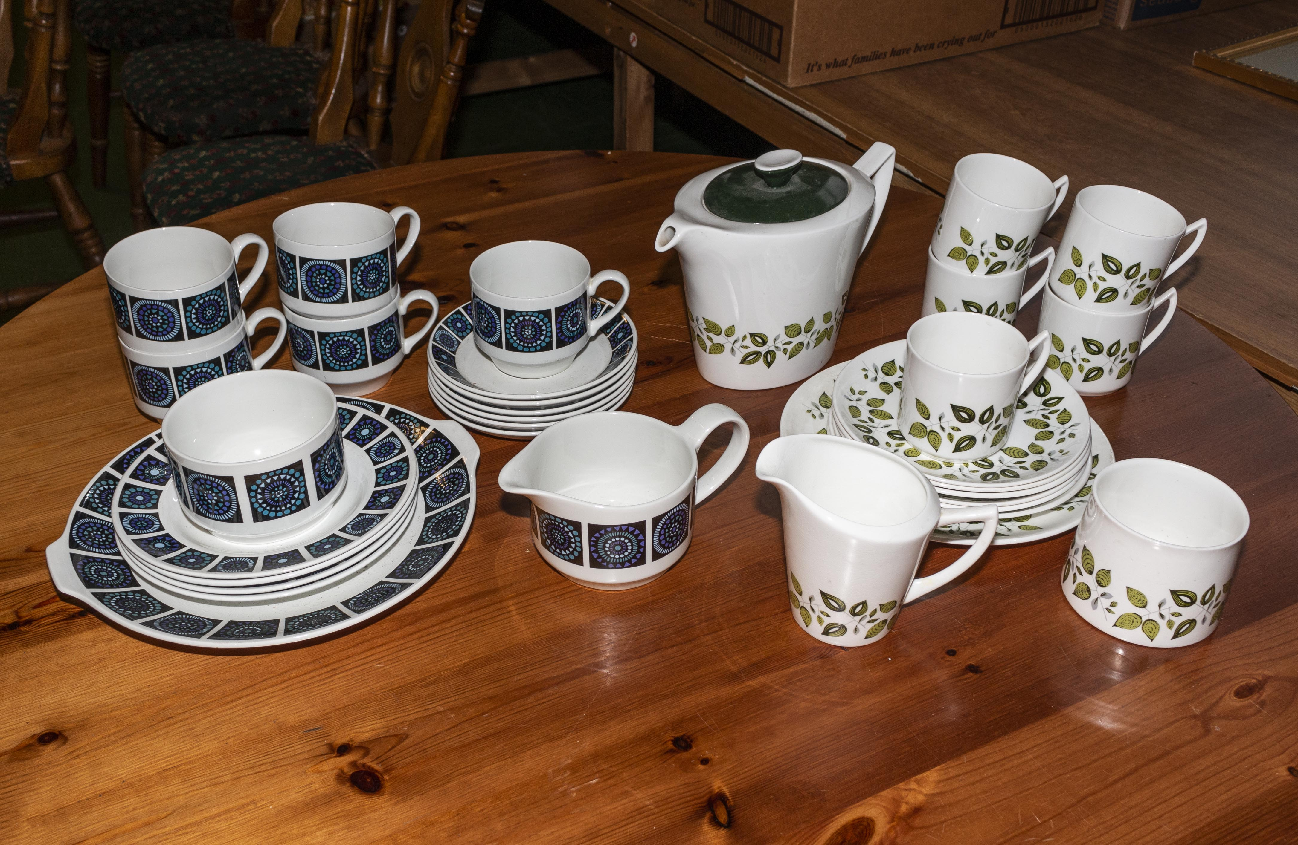 Lot 46 - A 1960's part teaset together with a 1960's coffee set