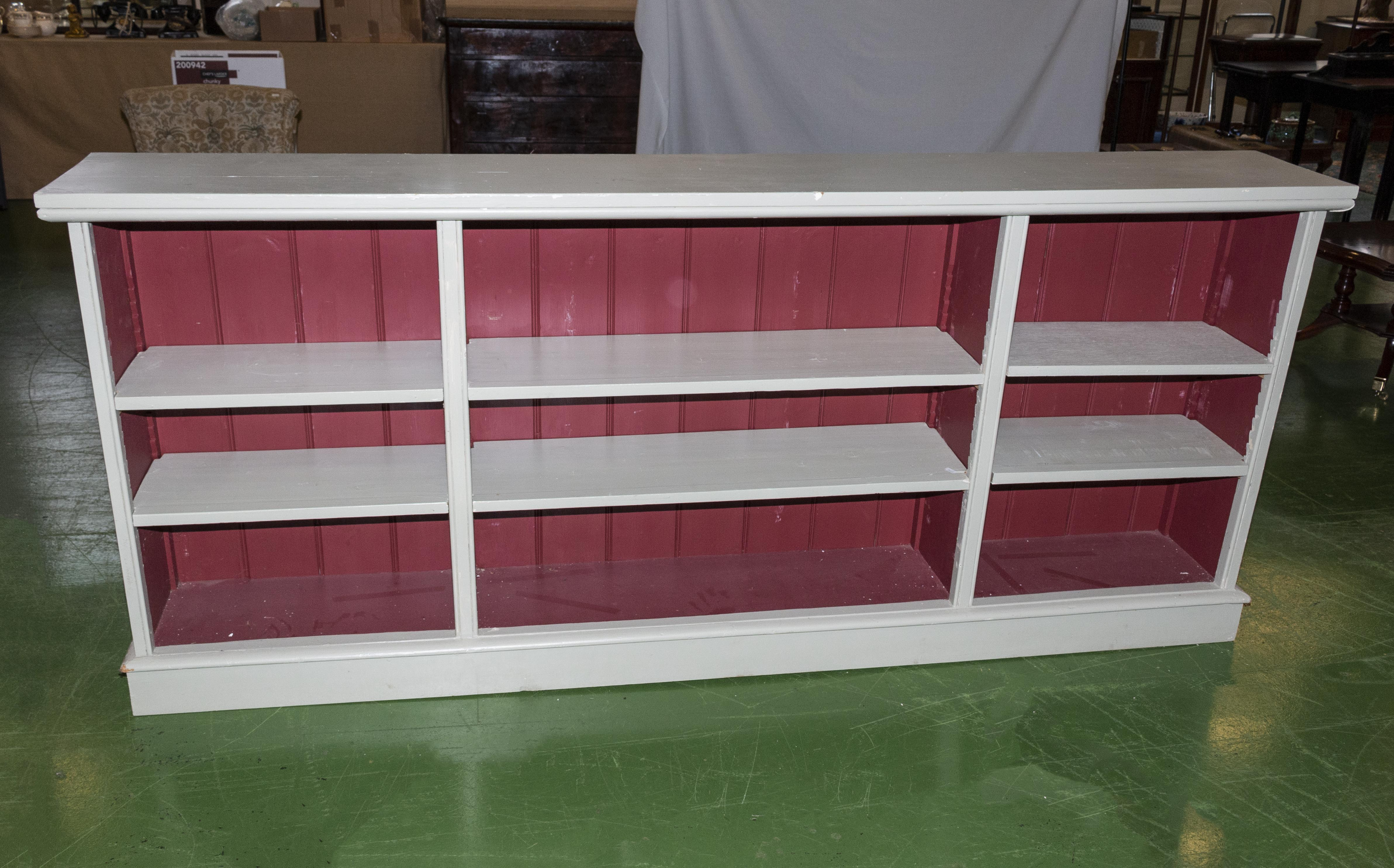 Lot 51 - A painted open bookcase