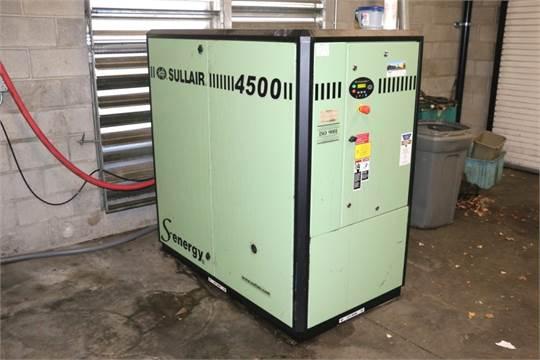 2013 sullair 4500 model 4509 ac s n 201310140049 60 hp air compressor rh bidspotter com
