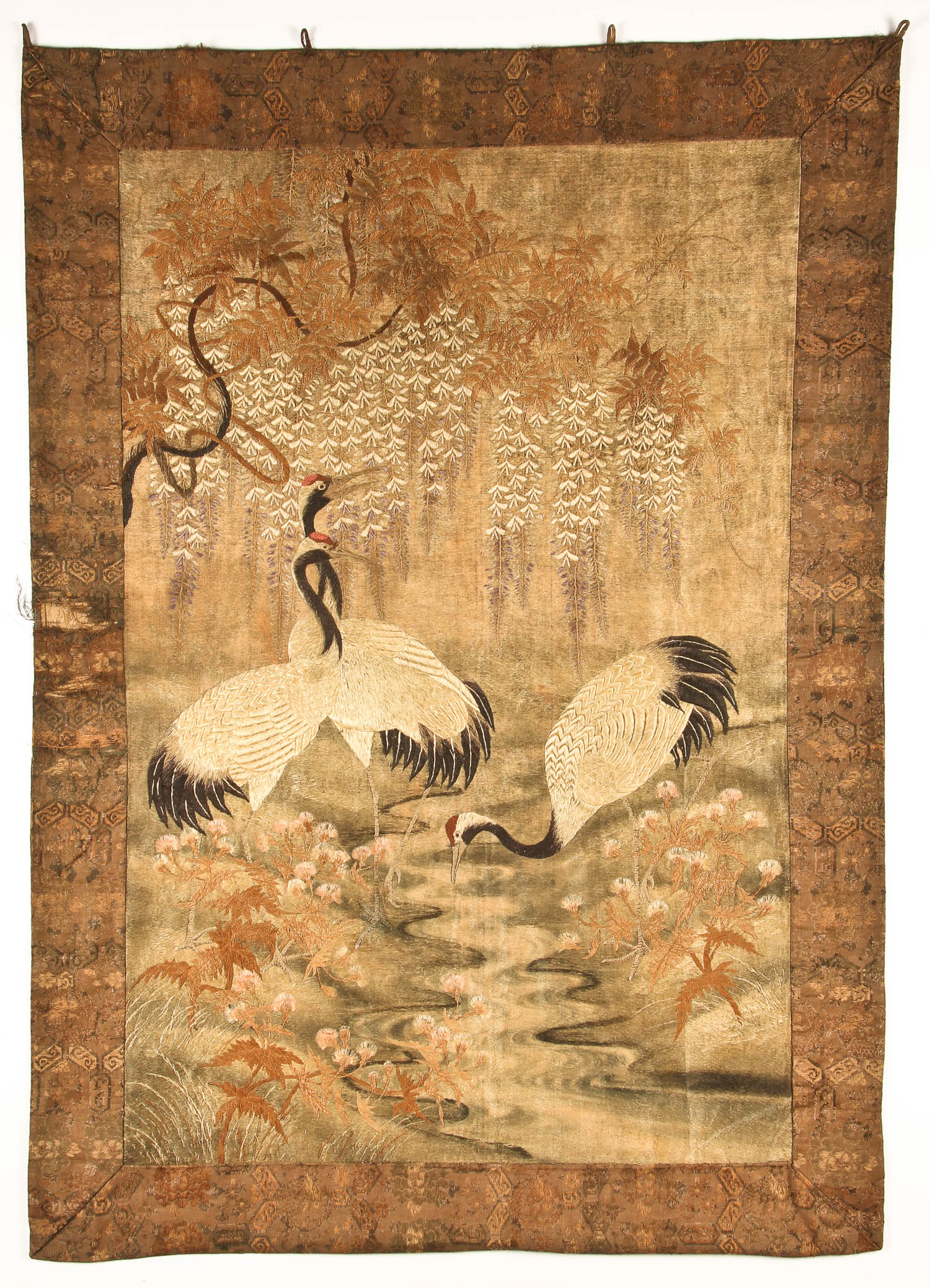 Antique Chinese Silk Embroidered
