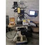"2015 KBC TUM-3VS CNC Vertical Mill, Acu-Rite G2 CNC Control, R8, 10"" x 54"" Table, 3HP, 60 – 4,200"