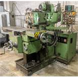 """TOS FGS 25.32 Universal Mill, Mitutoyo 3-Axis DRO, 12"""" x 40"""" Table, Speeds to 2,240 RPM"""