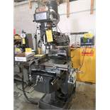 """KBC Vertical Mill, Mitutoyo 2-Axis DRO, 10"""" x 50"""" Table, 3HP, 60 – 4,200 RPM, Align Power Feed"""