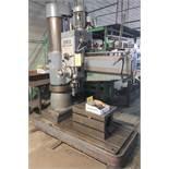 FEMCO WRD 50/1250 Radial Arm Drill, 4' Arm, 1,920 RPM, s/n 79-4065