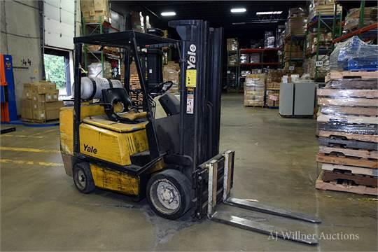 Yale Model GLC060TENUAE083 LPG Forklift s/n N547641 9,279