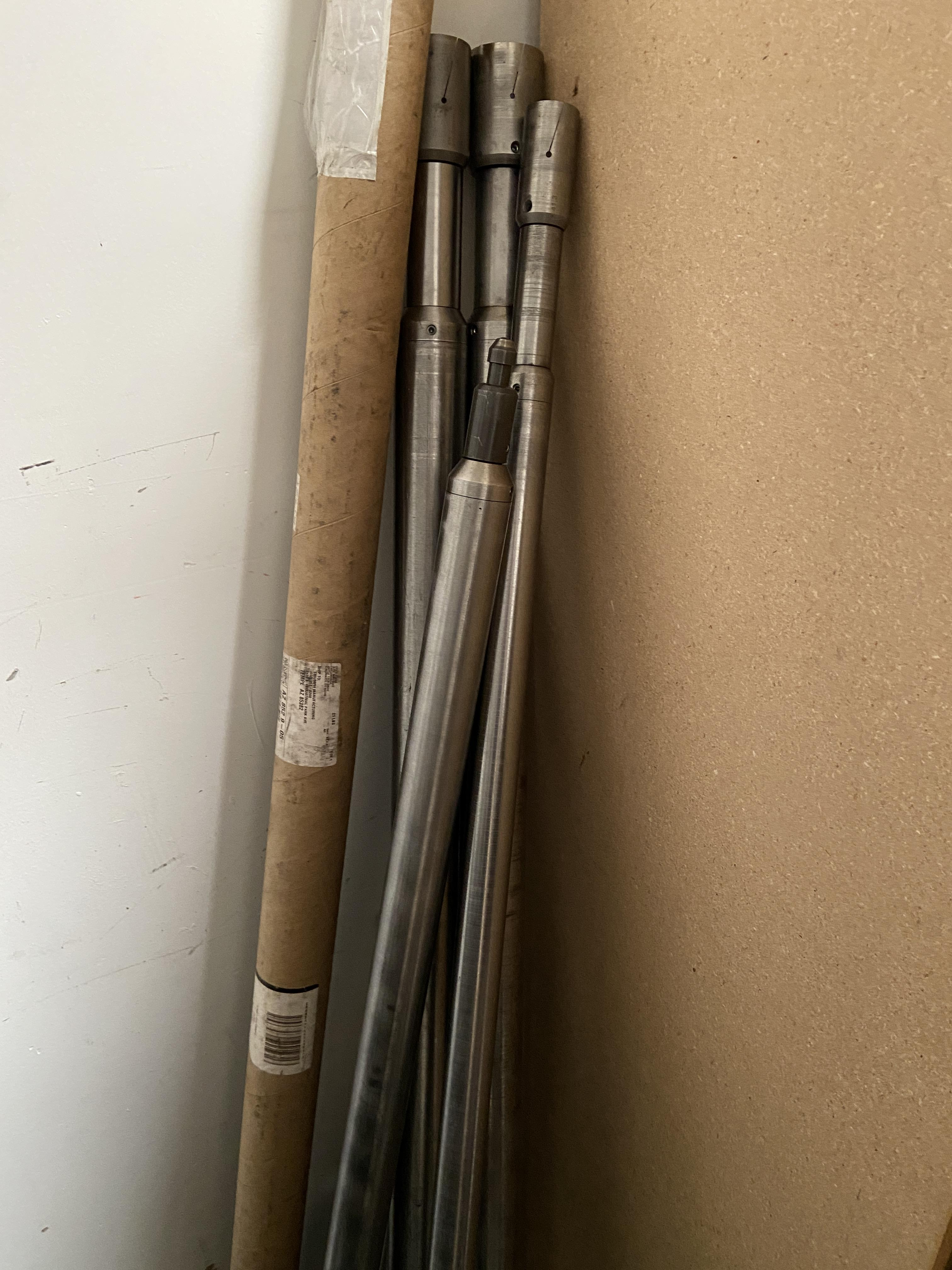 Lot 1C - Lot of 9 Machinery Feed Tubes