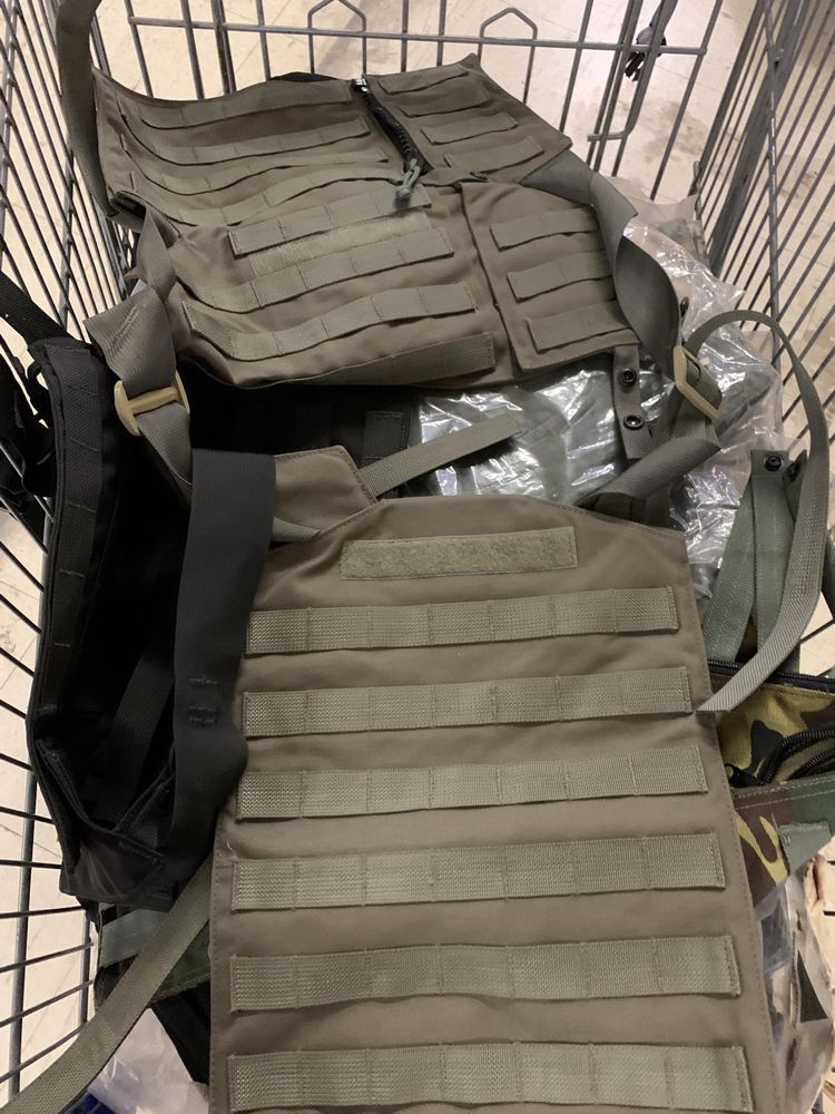 Lot 44 - 16 Misc Blackwater Gear Tactical Firearm Vests and Accessories