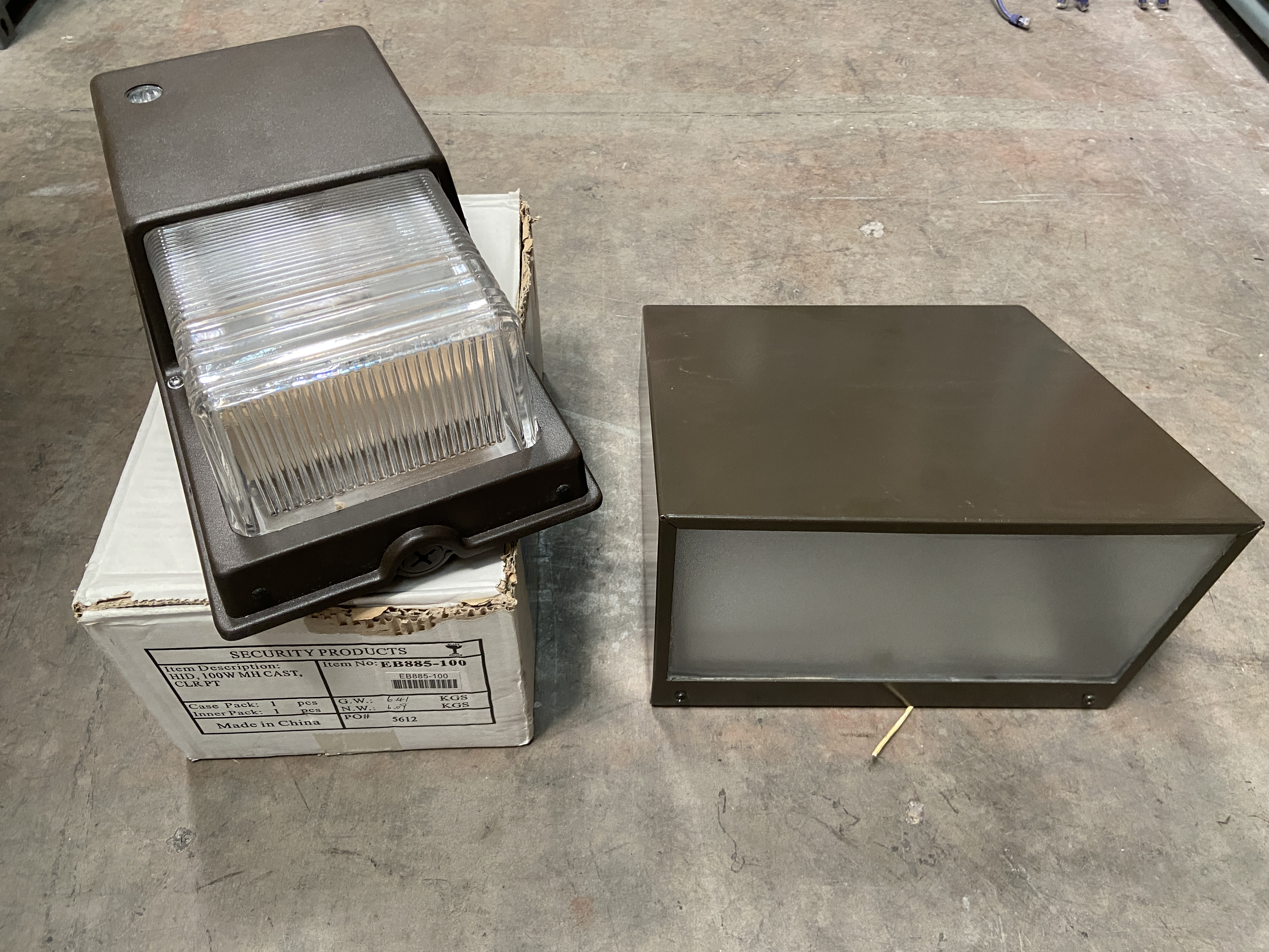 Lot 1V - 2 New Commercial Industrial Light Fixtures